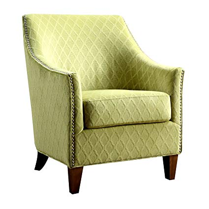 Amazon.com: Accent Armchair Heavy Duty Wooden Frame Lime Fabric
