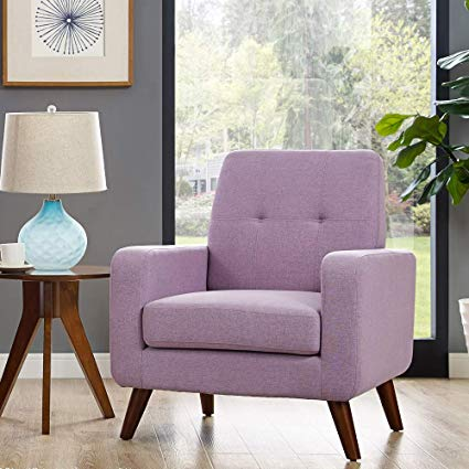 Amazon.com: Dazone Modern Upholstered Accent Chair Comfy Armchair
