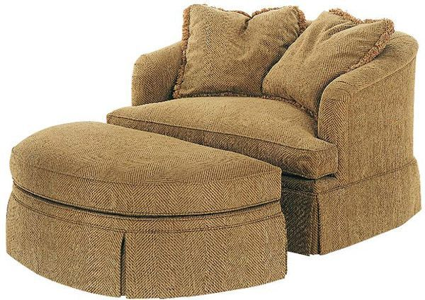 round chair and a half comfy | Chair and a half with ottoman! or