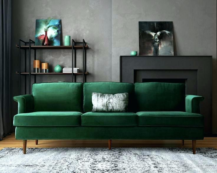 Dark Green Sofa And Living Room Ideas Couch For Grey 3 Throws
