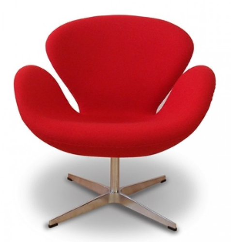 Mild Steel Linen Red Designer Chairs, Rs 3550 /piece, J. B