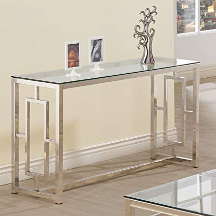 Amazon.com: Console Table for Entryway Glass Top Modern Hall Room