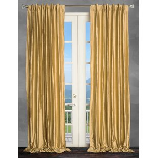 Metallic Gold Curtains | Wayfair