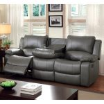 Gray leather reclining sofa is   a beautiful selection for your home décor