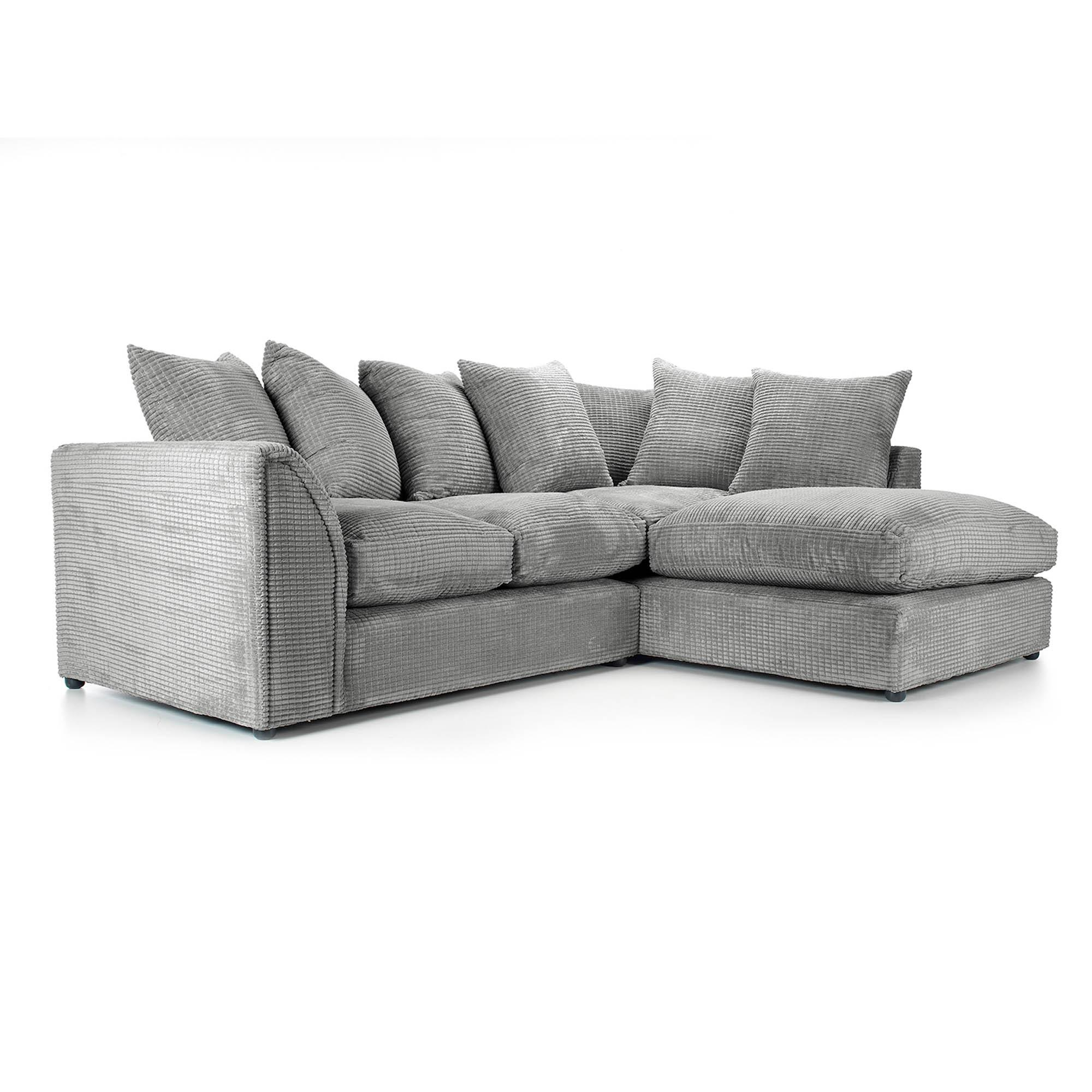 Denver Grey Right Hand Corner Sofa | Dunelm