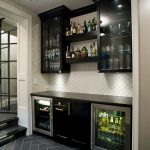 Enjoy your drink relaxing with   unique home bar design