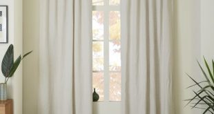 Belgian Flax Linen Curtain - Natural | west elm