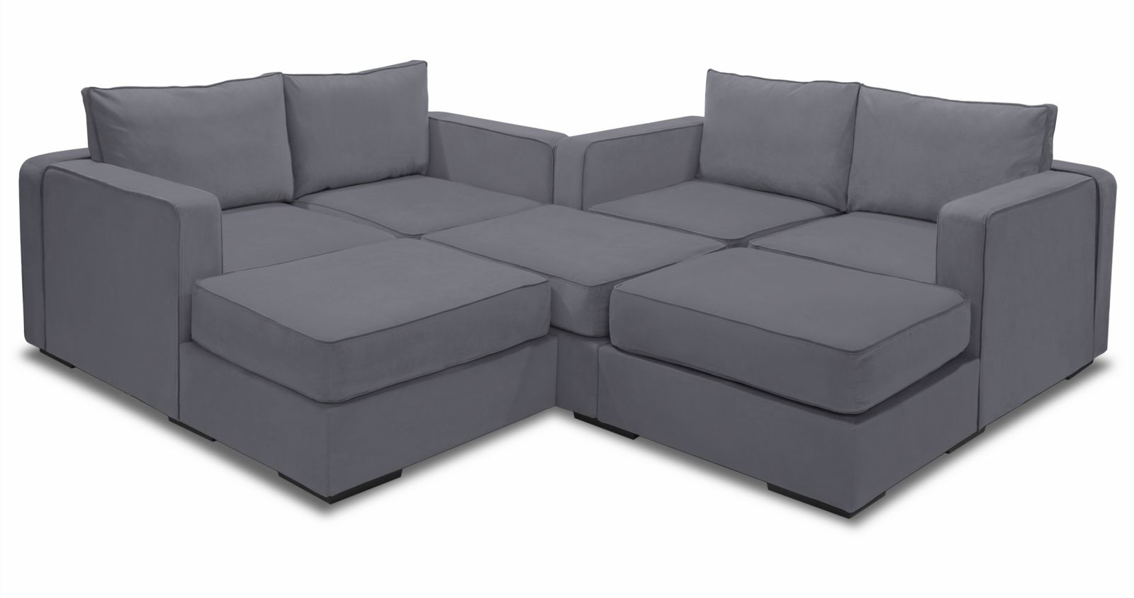 Large Modular Sectional Couch | 7 Seats + 8 Sides | Lovesac