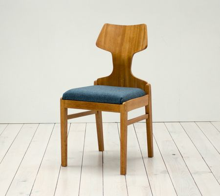 Beech and Oak Dining Chairs by Alphonse Loebenstein for Meredew