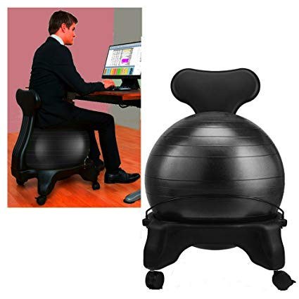 Amazon.com: Stress Ball Chair Black Balance Stability Rolling Yoga