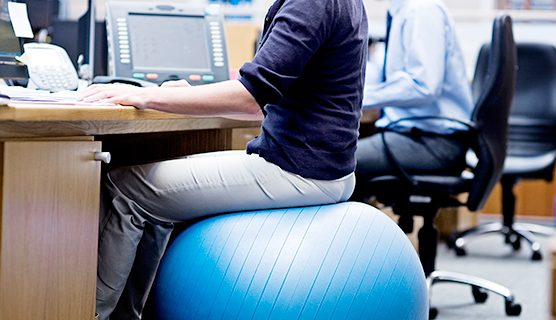 Does sitting on an exercise ball make you leaner, more productive