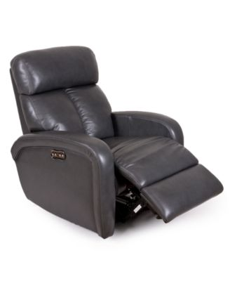 Furniture Criss Leather Power Recliner with Power Headrest and USB