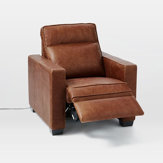 Henry® Leather Power Recliner Chair | west elm