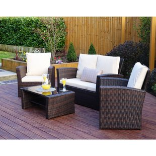 White Rattan Garden Furniture | Wayfair.co.uk
