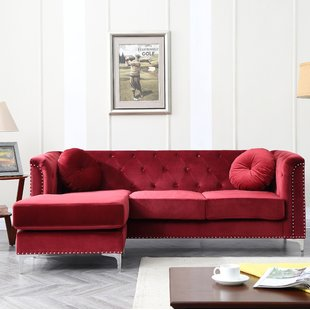 Seating furniture – red sectional sofa – CareHomeDecor