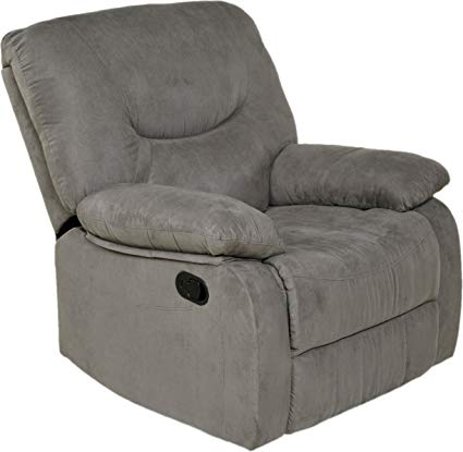 Amazon.com: Relaxzen Rocker Recliner, Gray Microfiber: Kitchen & Dining