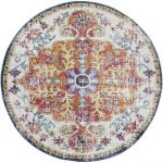 The selection of round area   rugs offer a complete designed look