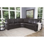 Living room furniture –   sectional leather couch
