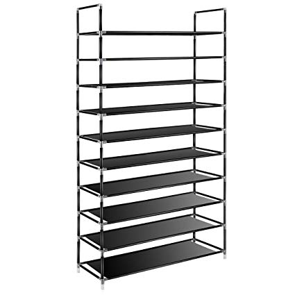 Amazon.com: TomCare 10 Tier Shoe Rack 50 Pairs Shoe Organizer Shoes