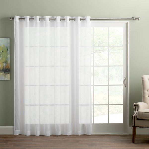 Wayfair Basics™ Wayfair Basics Sliding Door Patio Solid Semi-Sheer