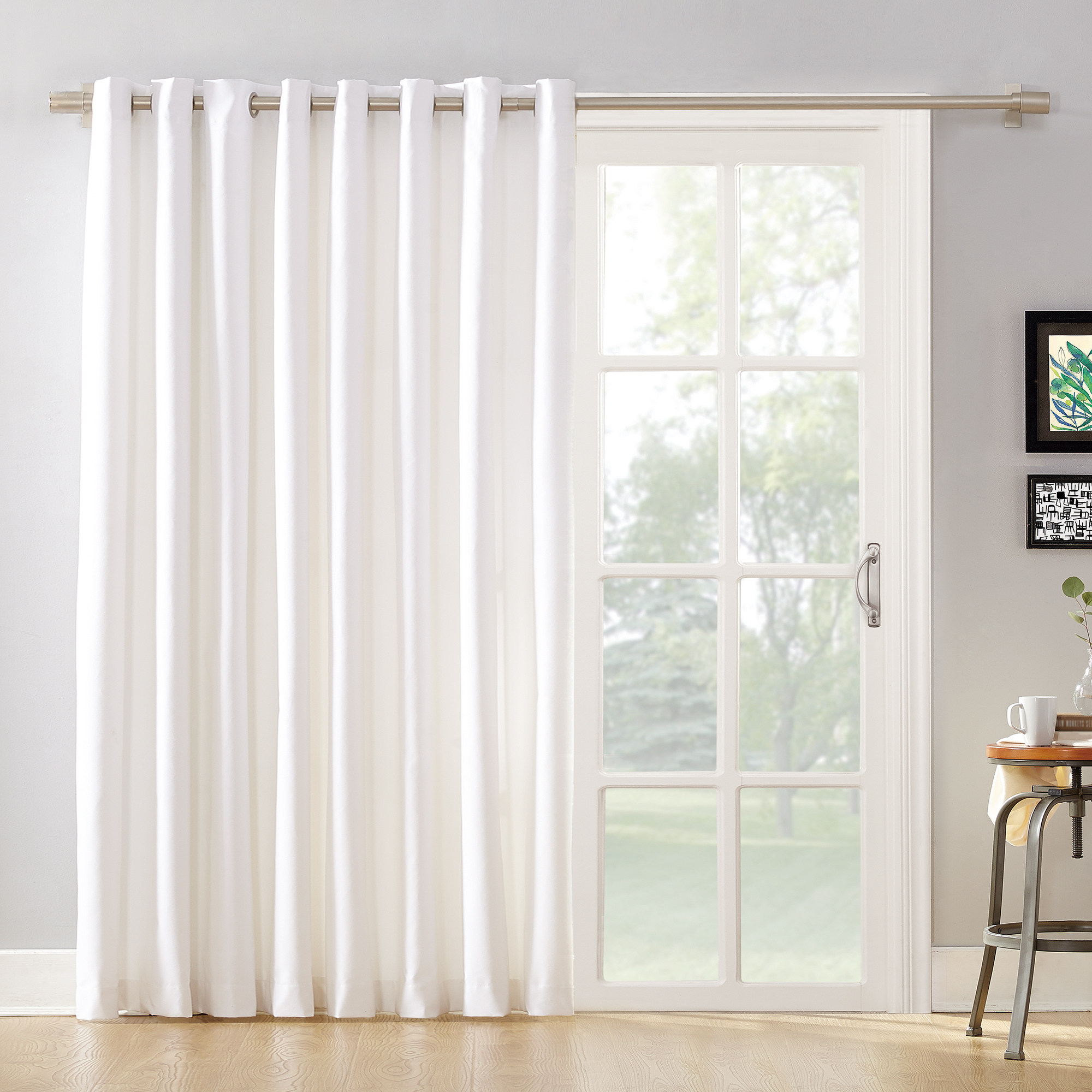 Mainstays Ava Sliding Glass Door Blackout Grommet Curtain Panel