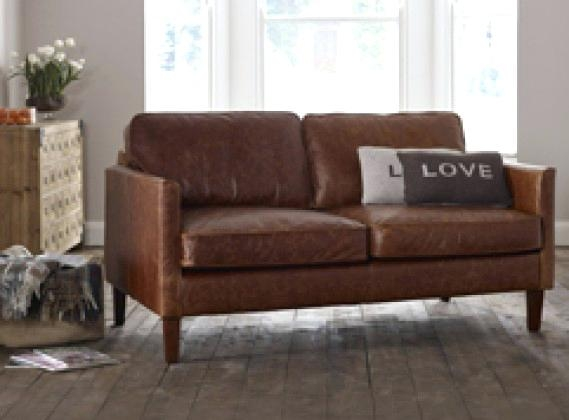 Pleasing Small Leather Couch 2 Seater Leather Sofas For Small Living