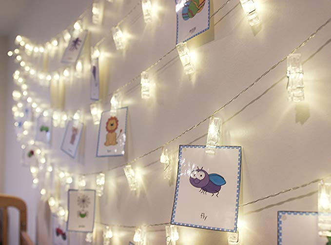 Amazon.com: LED Fairy String Lights with Clips for Photos - 20