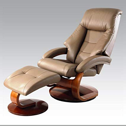 Amazon.com: Rests Luxury Leather Recliner Swivel Chairs with Ottoman