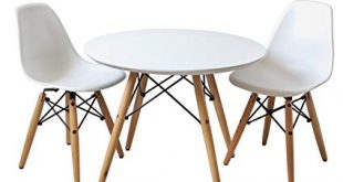 Amazon.com - Buschman Kids Modern Table with 2 Armless Chairs
