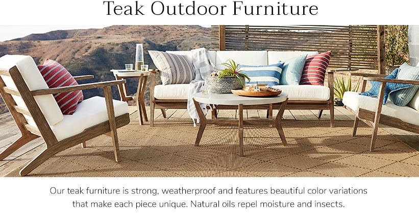 Teak Patio Furniture & Teak Outdoor Furniture | Pottery Barn
