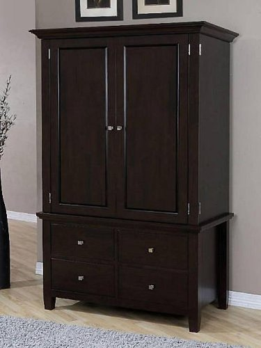 Amazon.com: Armoire Wood 4-drawer Wardrobe Closet Tv Cabinet Storage